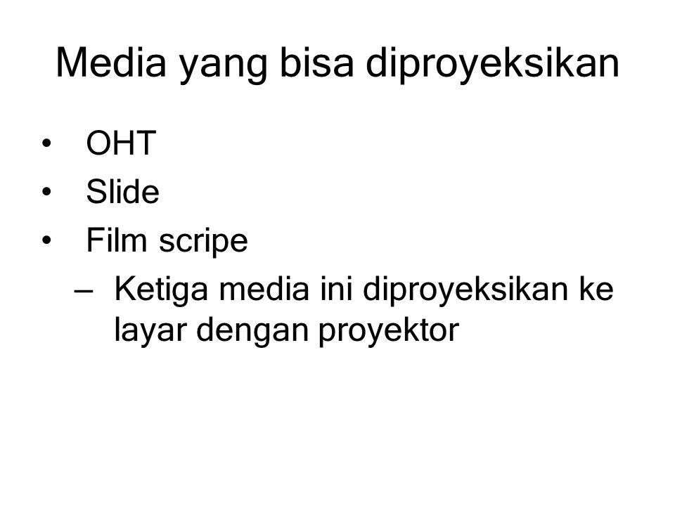 Media yang bisa diproyeksikan