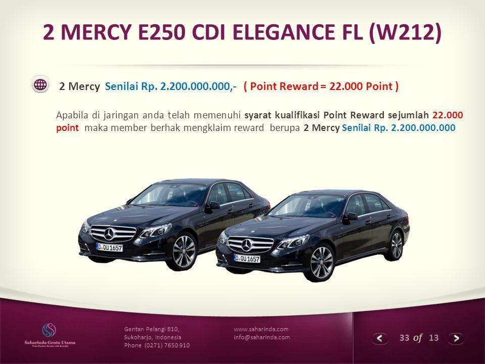2 MERCY E250 CDI ELEGANCE FL (W212)
