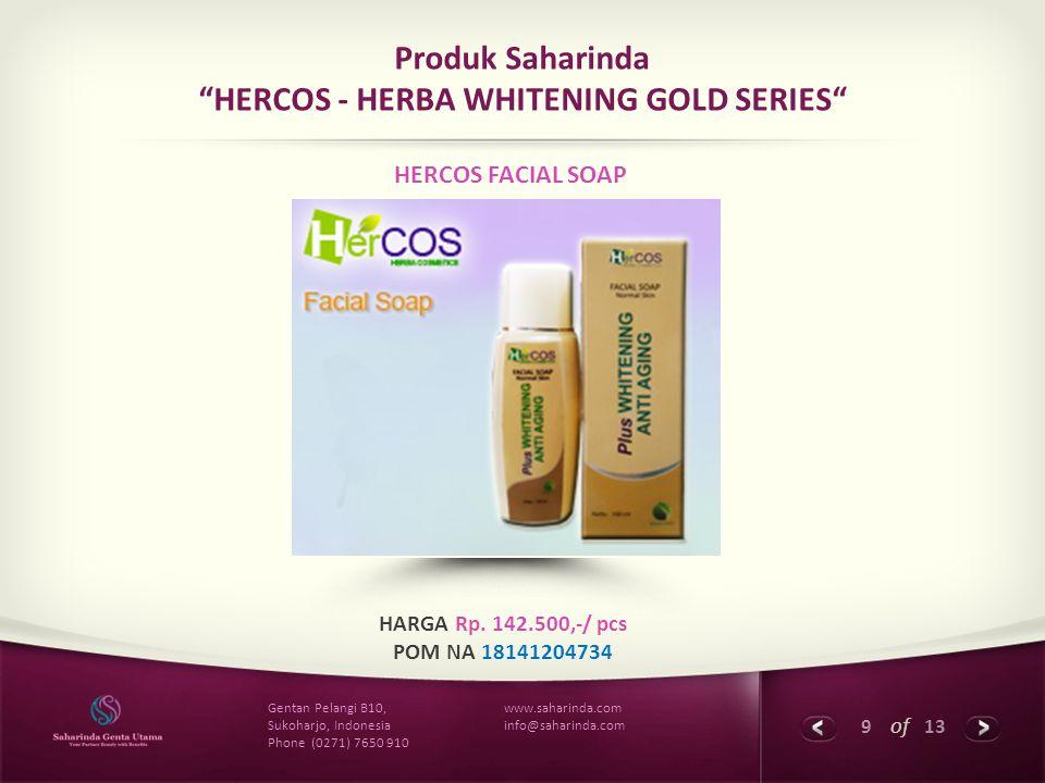 Produk Saharinda HERCOS - HERBA WHITENING GOLD SERIES