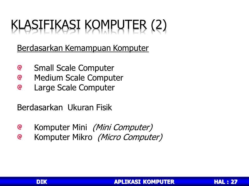 Klasifikasi komputer (2)