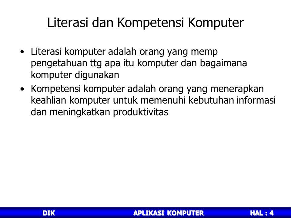 Literasi dan Kompetensi Komputer