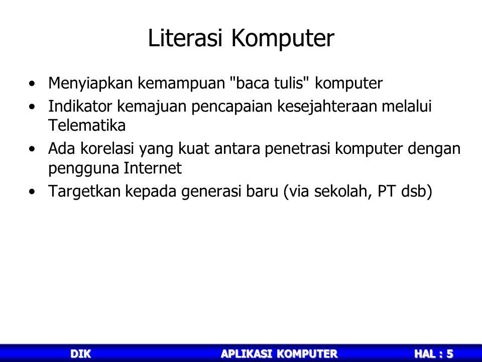 Literasi Komputer Menyiapkan kemampuan baca tulis komputer