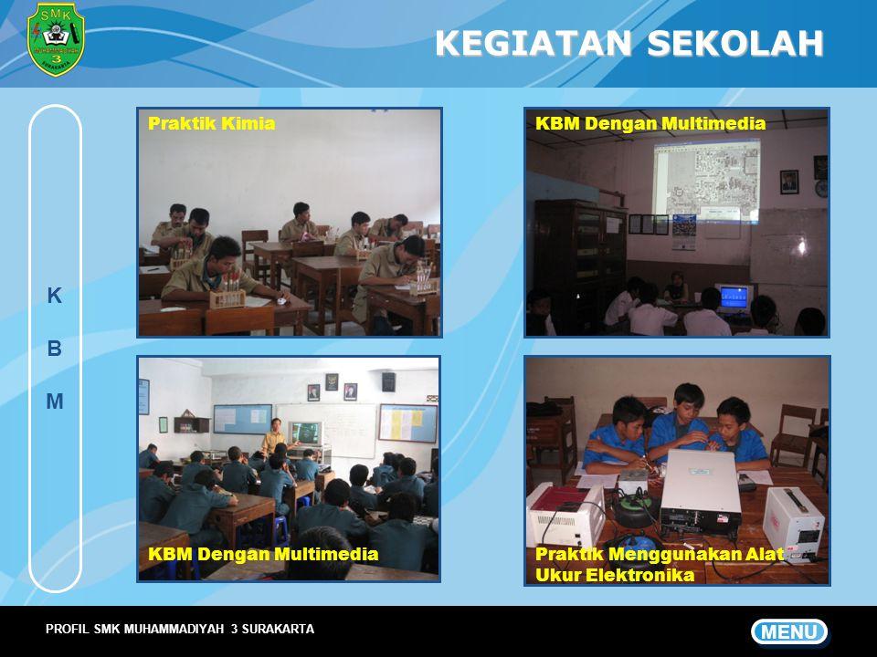 KEGIATAN SEKOLAH K B M MENU Praktik Kimia KBM Dengan Multimedia