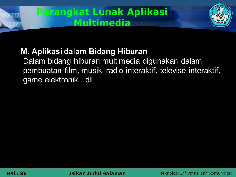 Perangkat Lunak Aplikasi Multimedia