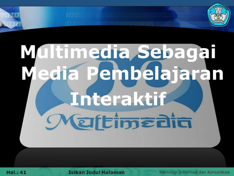 Multimedia Sebagai Media Pembelajaran