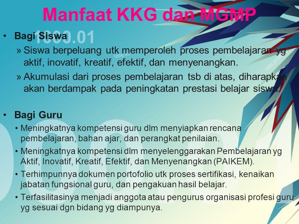 Manfaat KKG dan MGMP Bagi Siswa