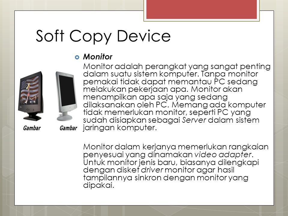 Soft Copy Device Monitor
