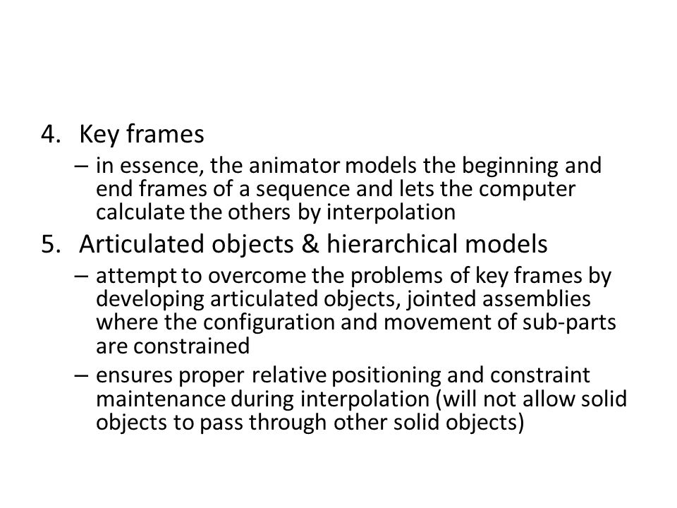 Articulated objects & hierarchical models