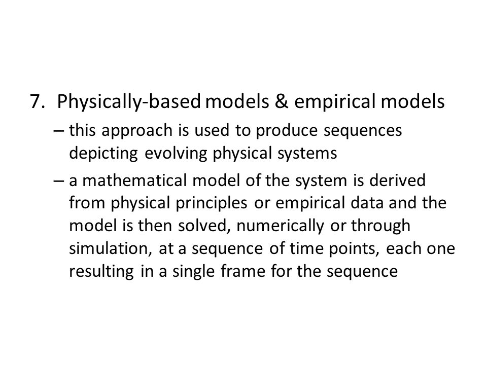 Physically-based models & empirical models