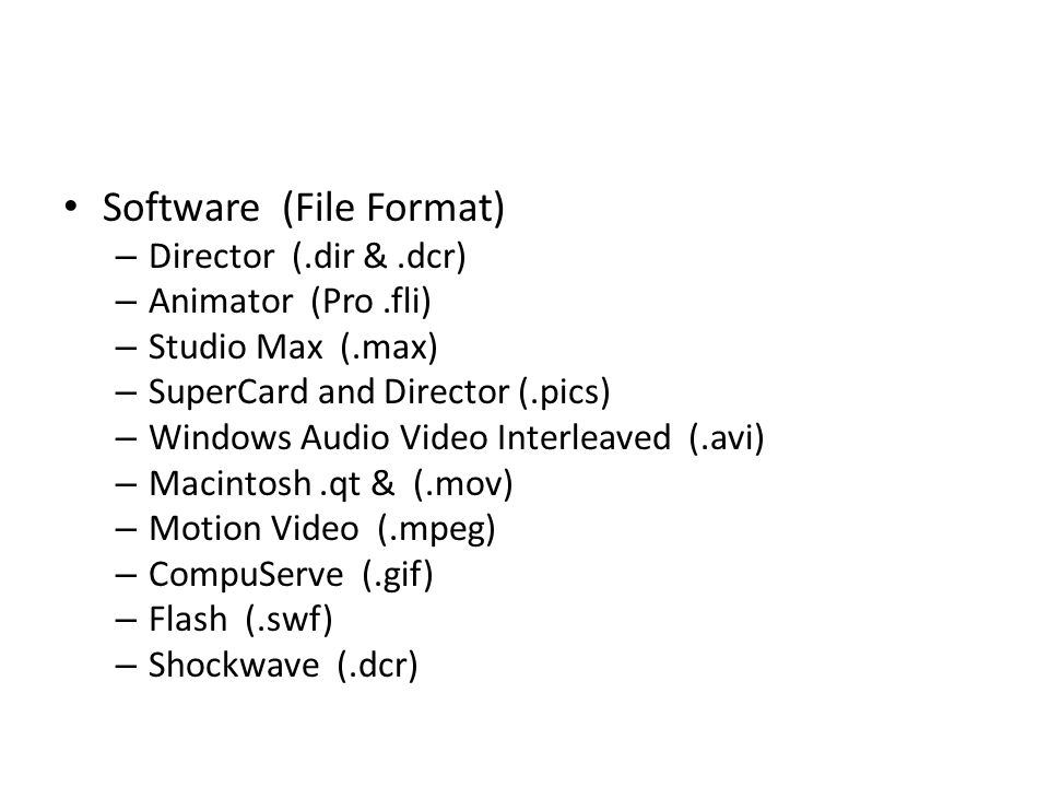 Software (File Format)
