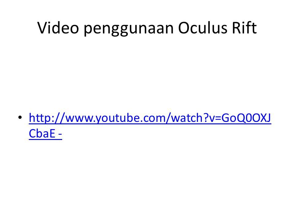 Video penggunaan Oculus Rift
