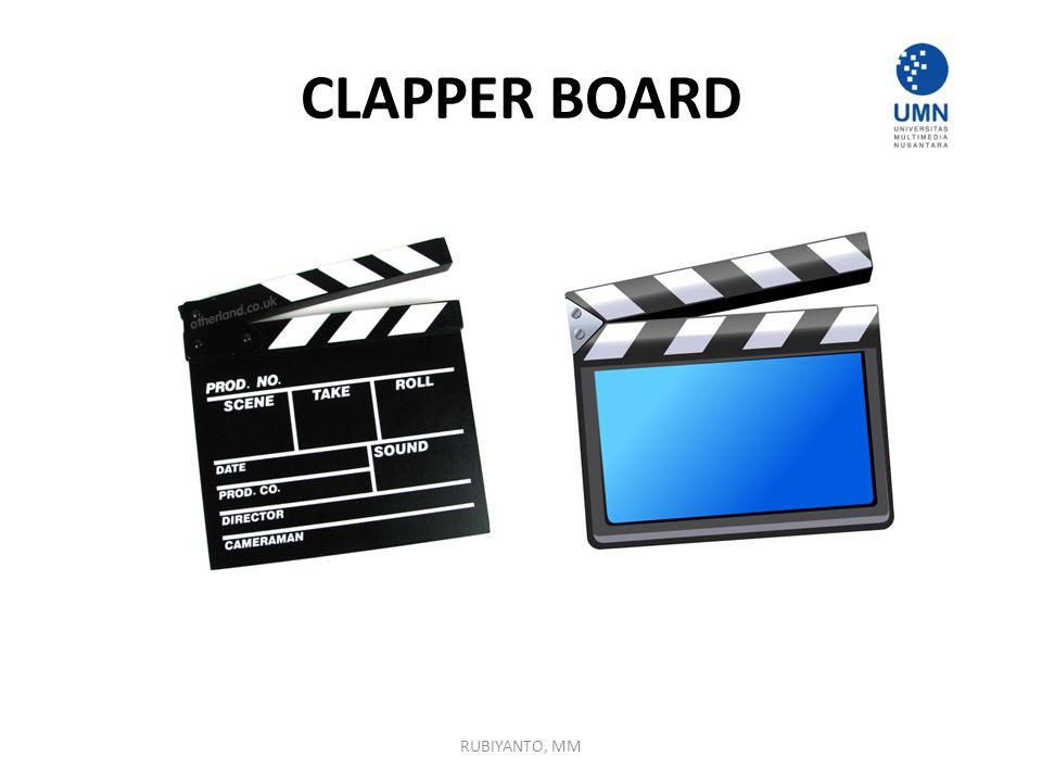 CLAPPER BOARD RUBIYANTO, MM
