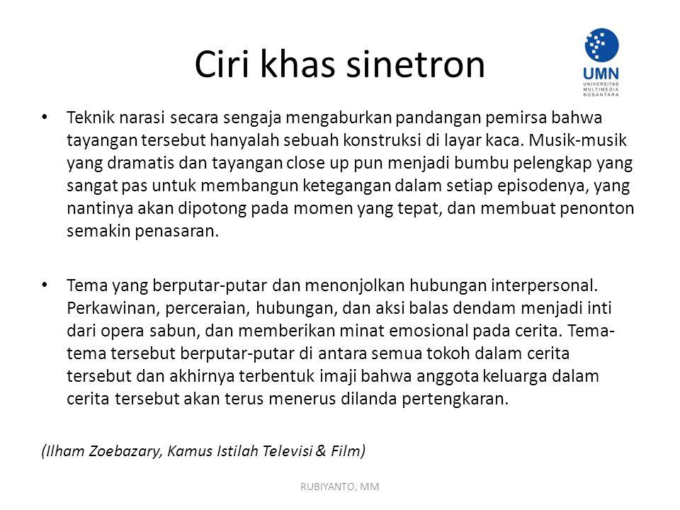 Ciri khas sinetron