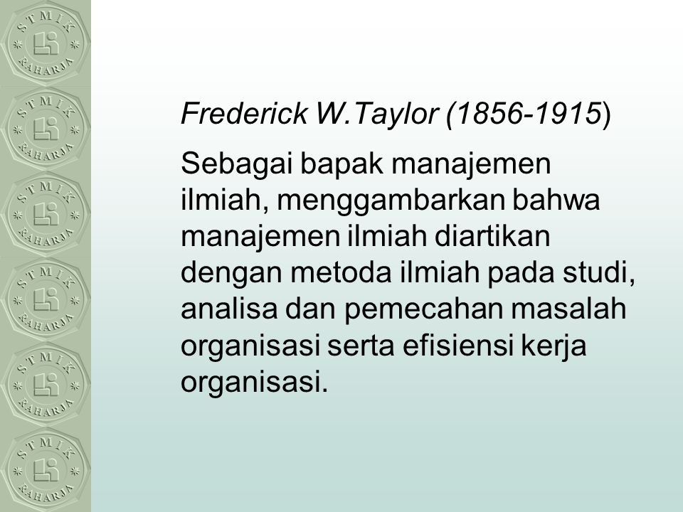 Frederick W.Taylor (1856-1915)