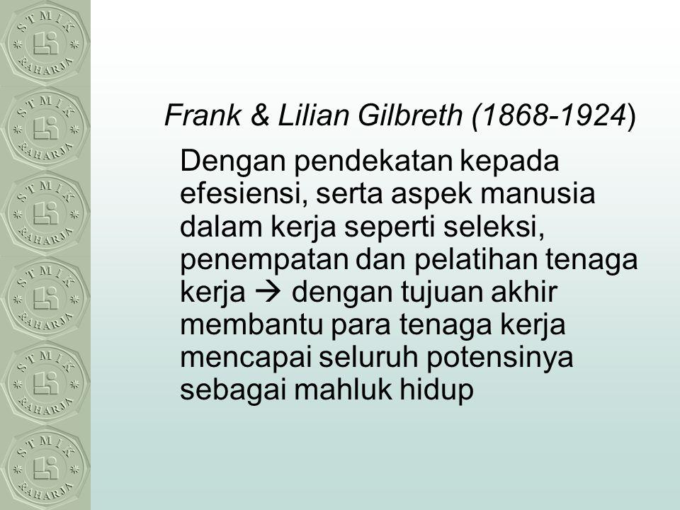 Frank & Lilian Gilbreth (1868-1924)