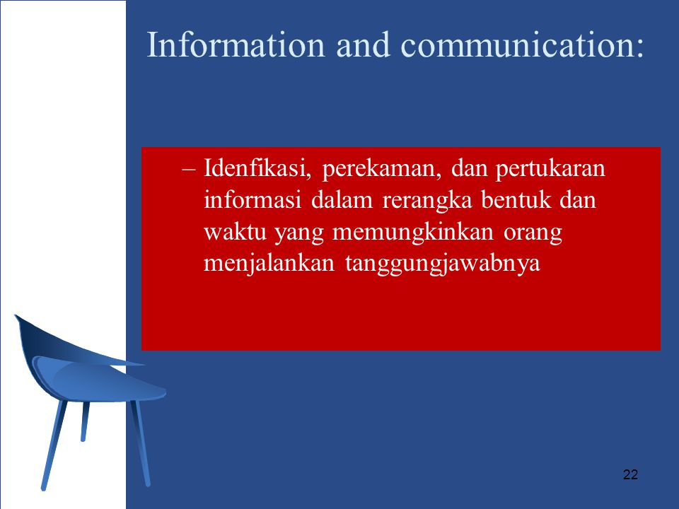 Information and communication: