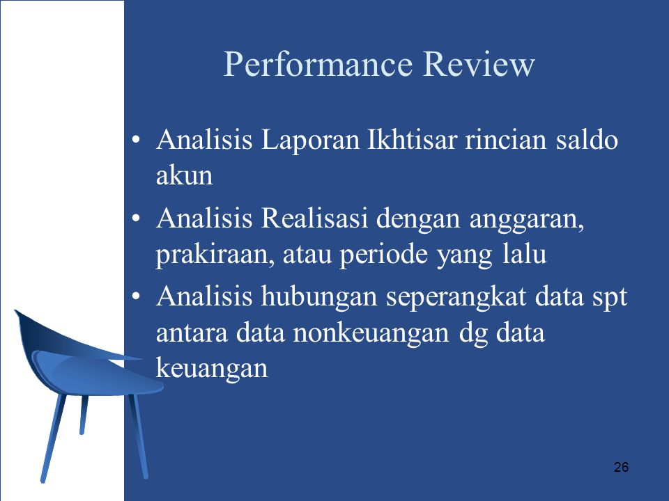 Performance Review Analisis Laporan Ikhtisar rincian saldo akun