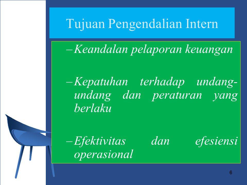 Tujuan Pengendalian Intern