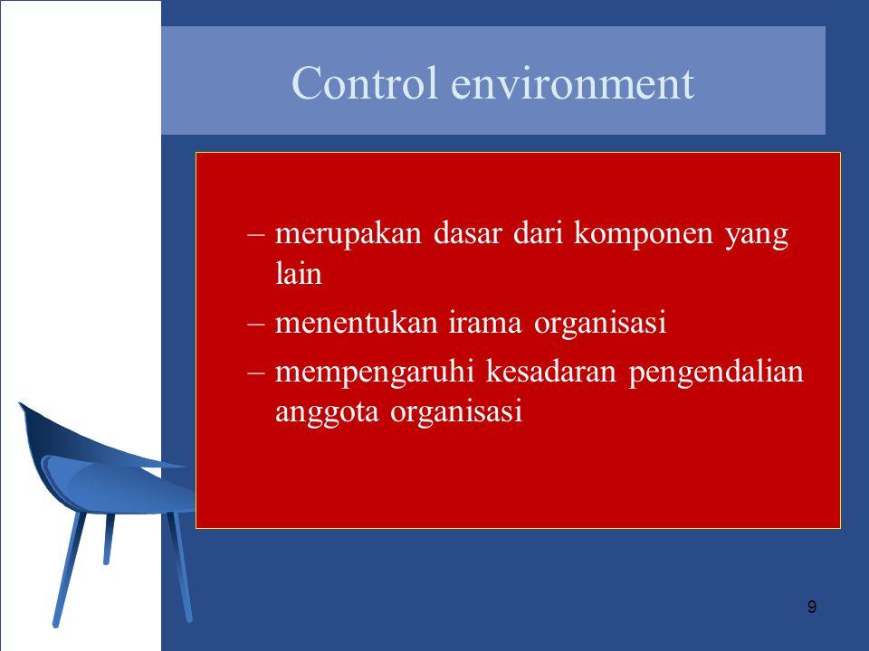 Control environment merupakan dasar dari komponen yang lain