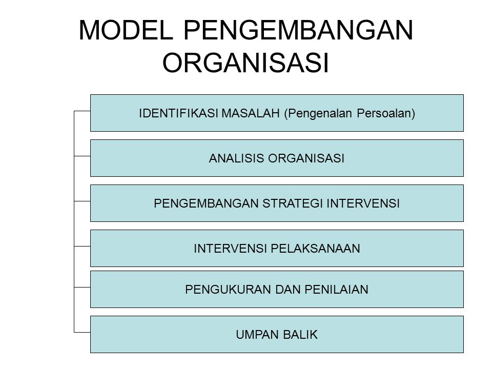 MODEL PENGEMBANGAN ORGANISASI