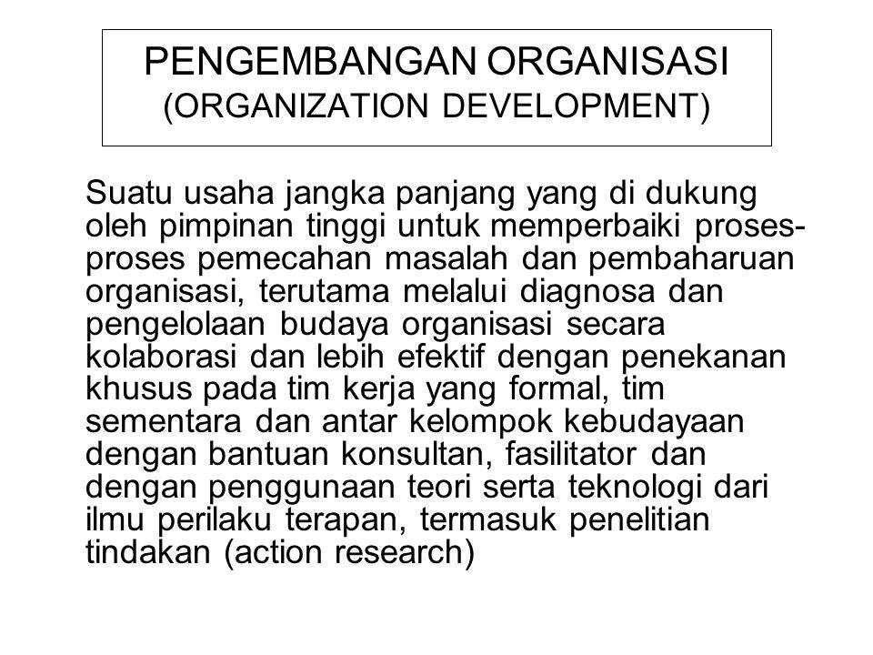 PENGEMBANGAN ORGANISASI (ORGANIZATION DEVELOPMENT)
