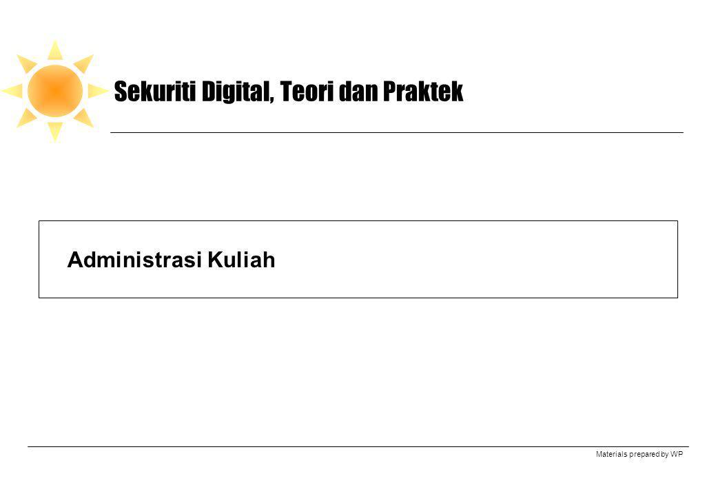 Sekuriti Digital, Teori dan Praktek