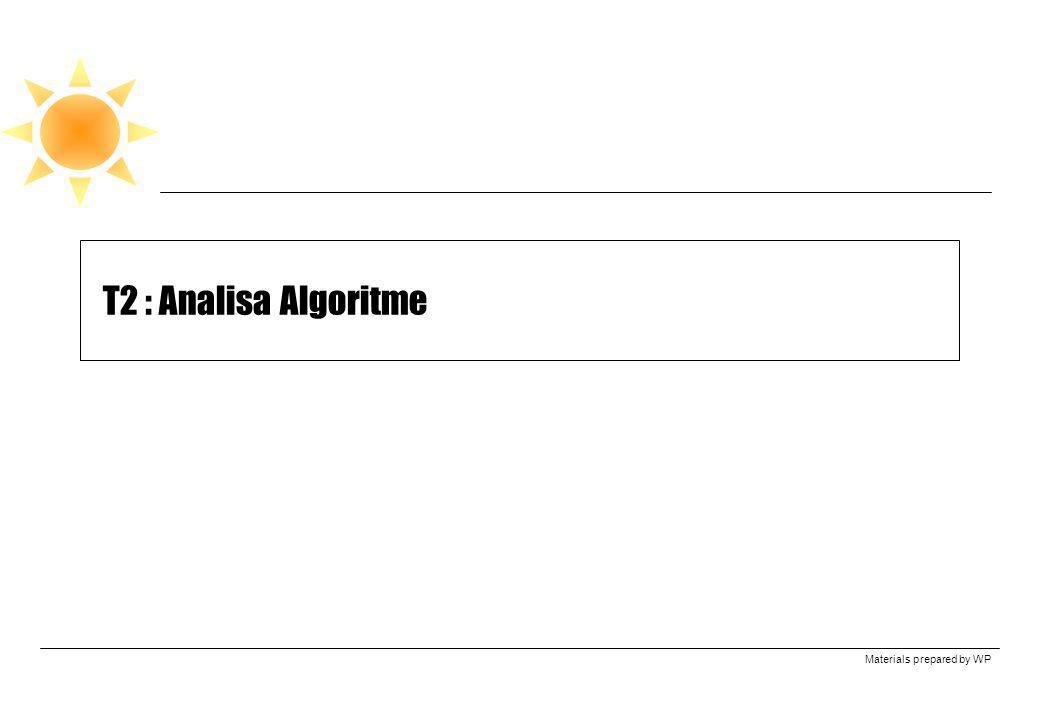T2 : Analisa Algoritme