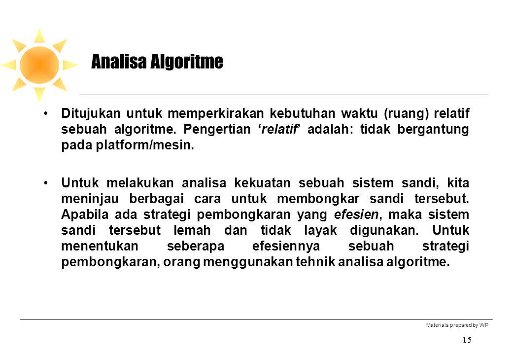 Analisa Algoritme