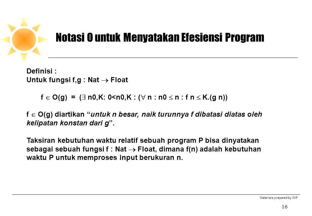 Notasi O untuk Menyatakan Efesiensi Program