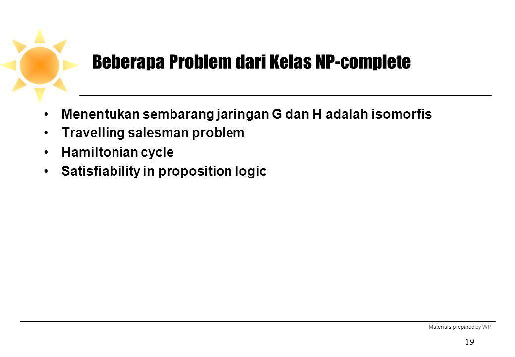 Beberapa Problem dari Kelas NP-complete