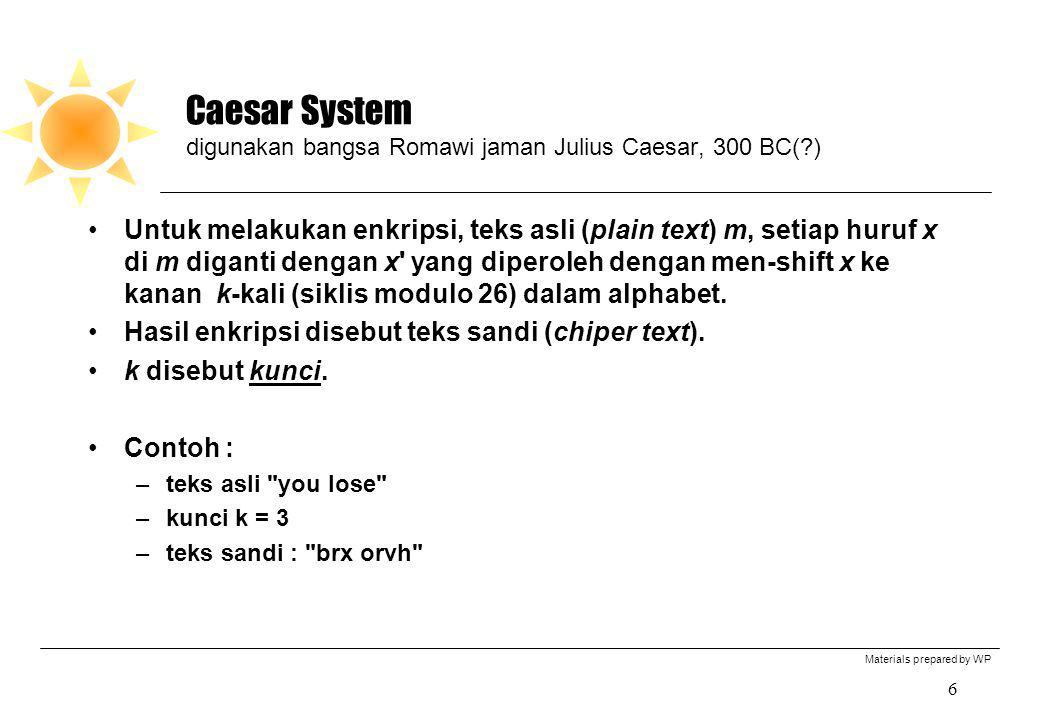 Caesar System digunakan bangsa Romawi jaman Julius Caesar, 300 BC( )