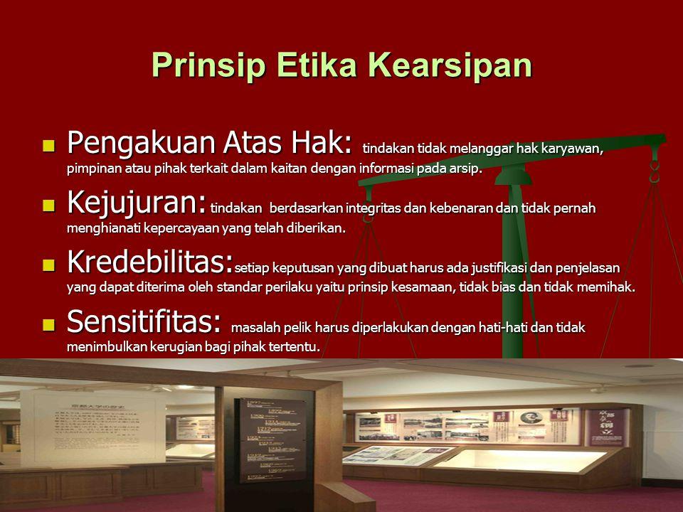 Prinsip Etika Kearsipan