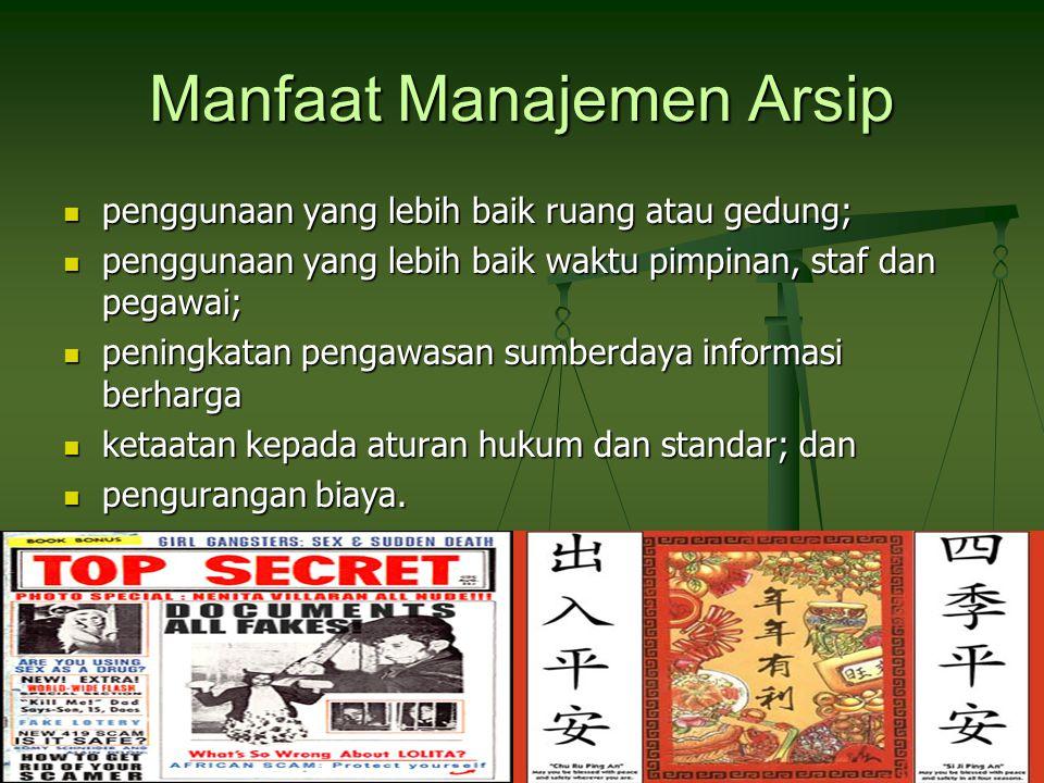Manfaat Manajemen Arsip