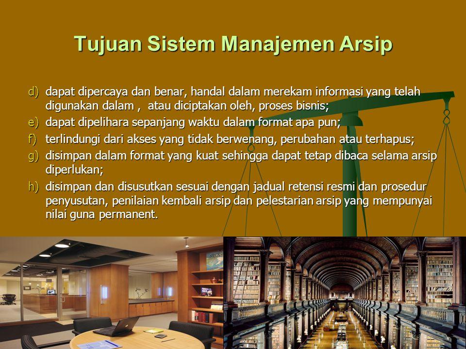 Tujuan Sistem Manajemen Arsip