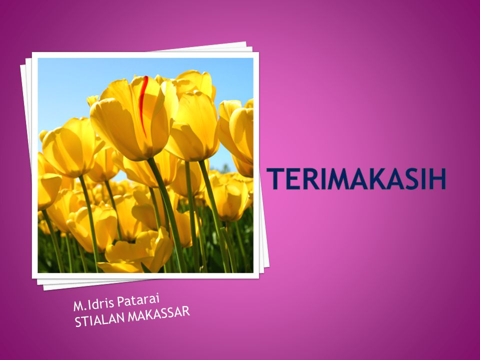 terimakasih M.Idris Patarai STIALAN MAKASSAR
