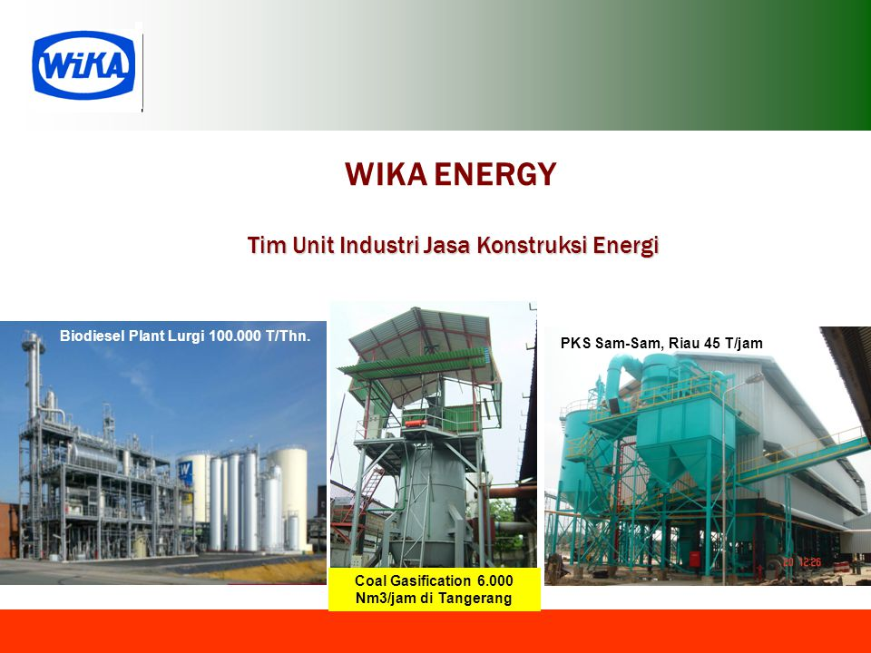 Coal Gasification 6.000 Nm3/jam di Tangerang