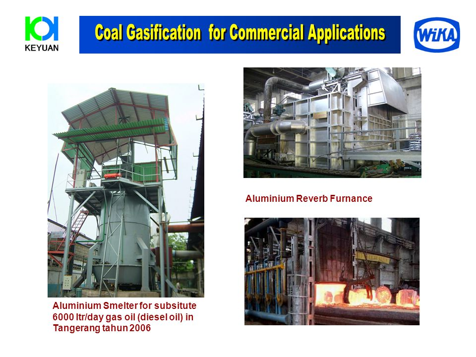 Coal Gasification for Commercial Applications