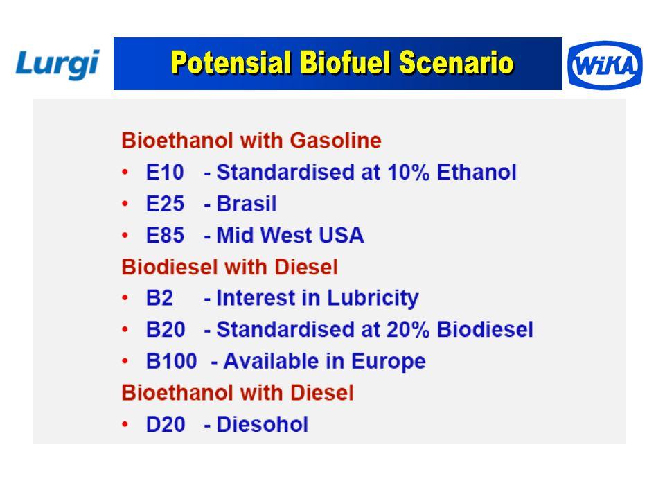 Potensial Biofuel Scenario