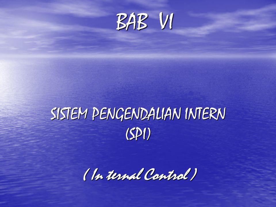 SISTEM PENGENDALIAN INTERN (SPI) ( In ternal Control )