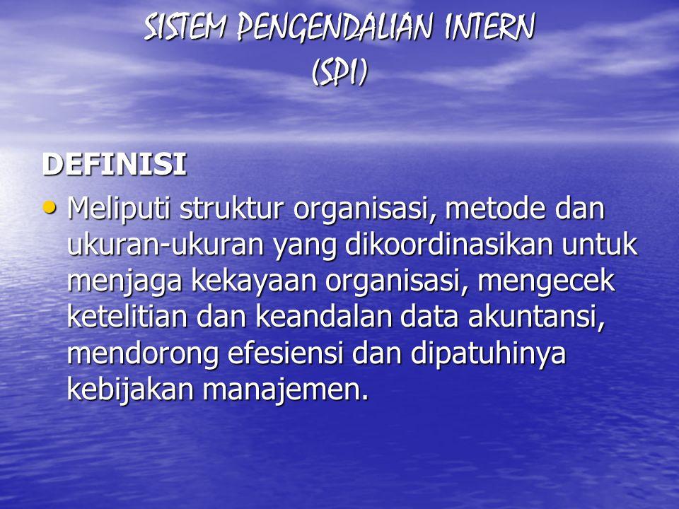 SISTEM PENGENDALIAN INTERN (SPI)