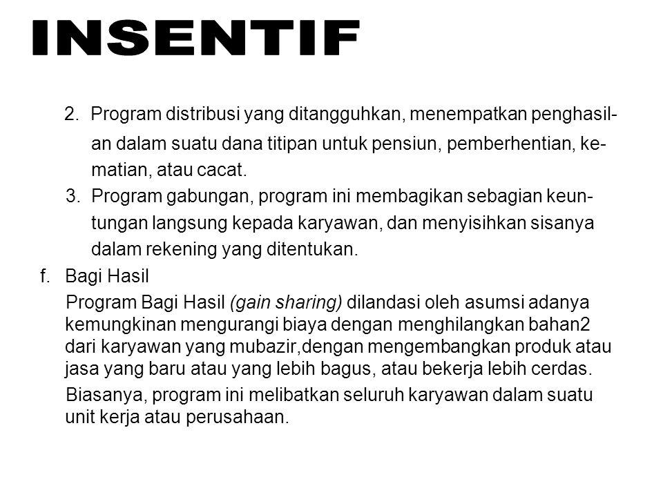 2. Program distribusi yang ditangguhkan, menempatkan penghasil-