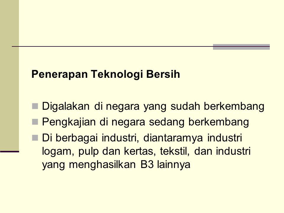 Penerapan Teknologi Bersih
