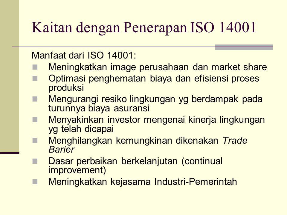 Kaitan dengan Penerapan ISO 14001