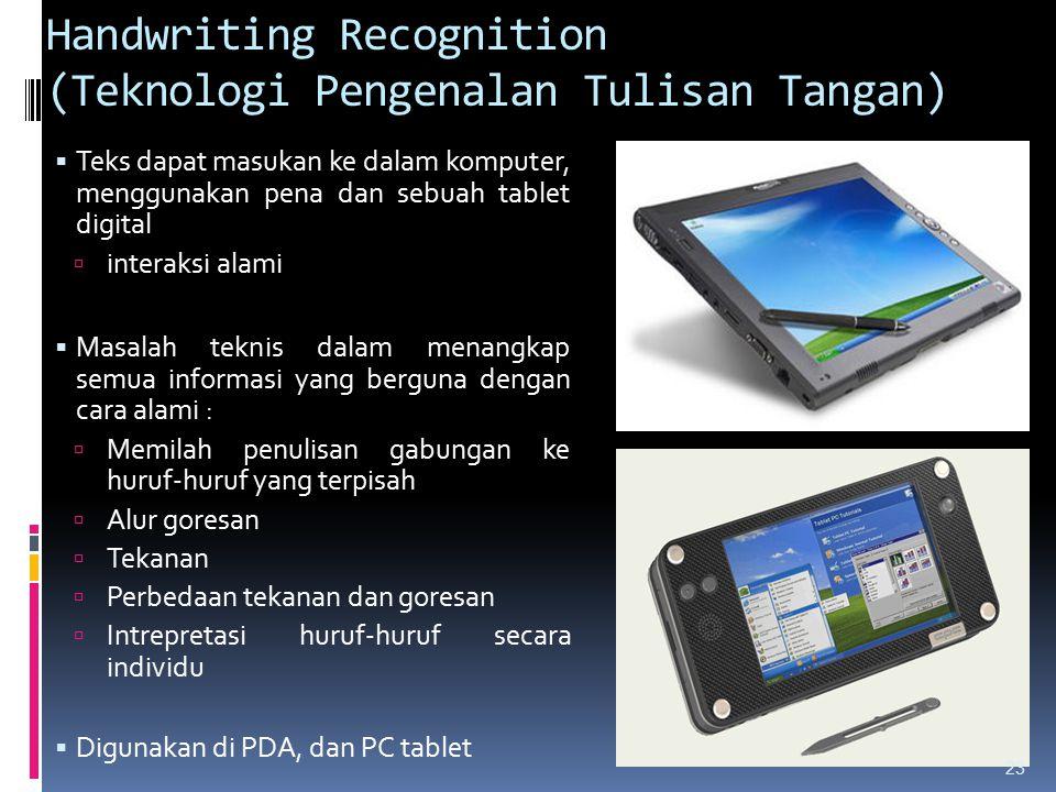 Handwriting Recognition (Teknologi Pengenalan Tulisan Tangan)