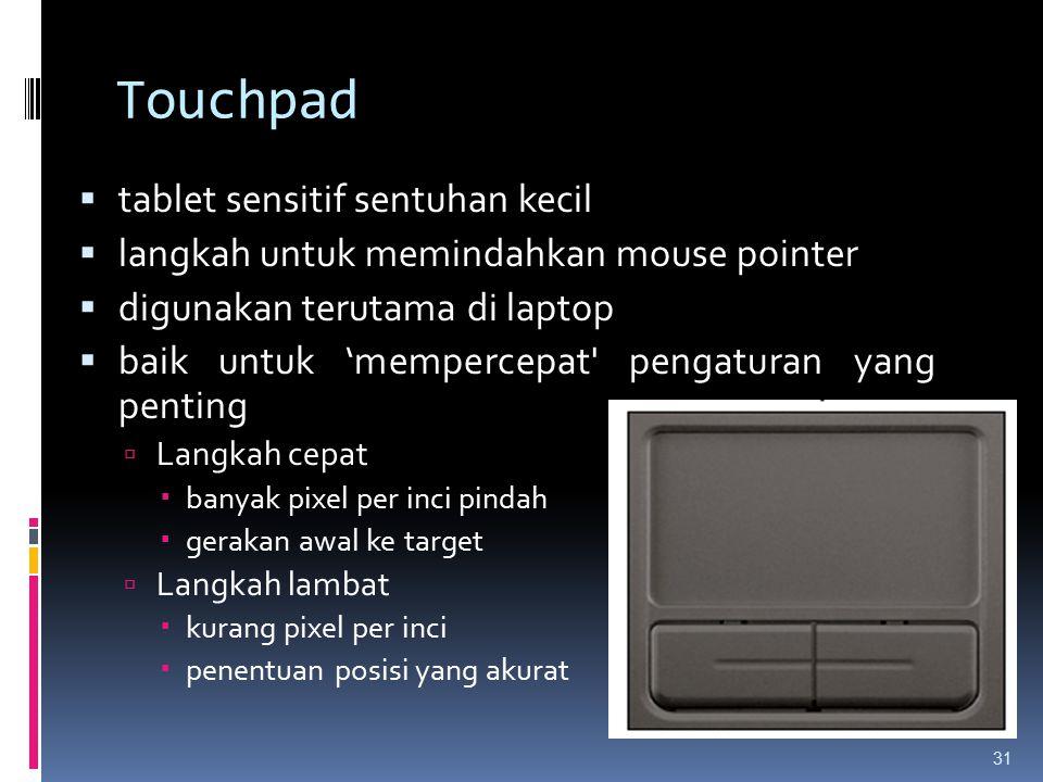Touchpad tablet sensitif sentuhan kecil