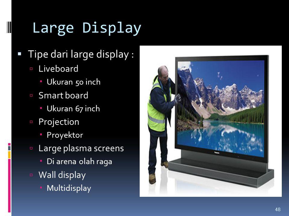 Large Display Tipe dari large display : Liveboard Smart board