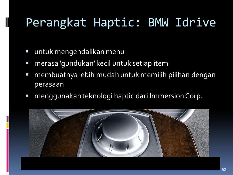 Perangkat Haptic: BMW Idrive