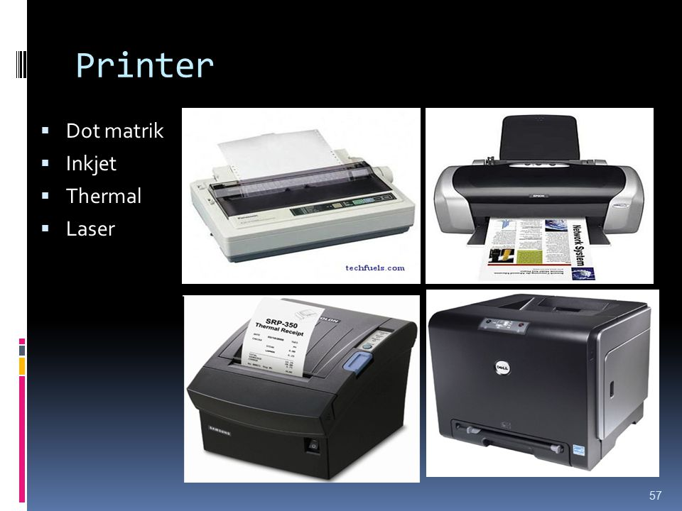 Printer Dot matrik Inkjet Thermal Laser