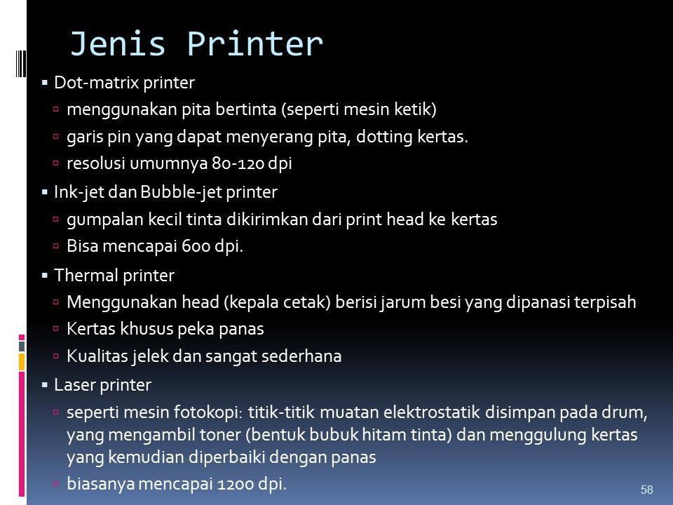 Jenis Printer Dot-matrix printer