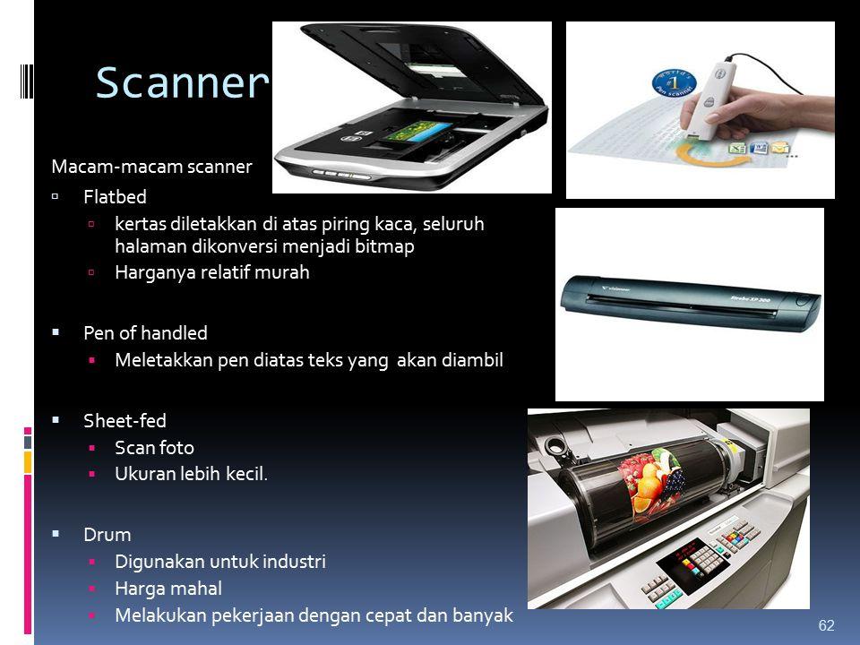 Scanner Macam-macam scanner Flatbed